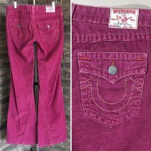 True Religion Joey Corduroy Flare Jeans 28 x 34